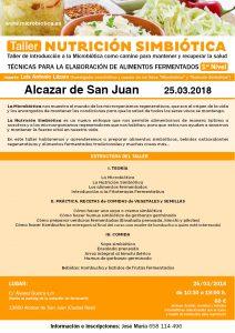 Taller NUTRICION SIMBIÓTICA  1er Nivel. Alcázar de San Juan @ Alcázar de San Juan | Castilla-La Mancha | España