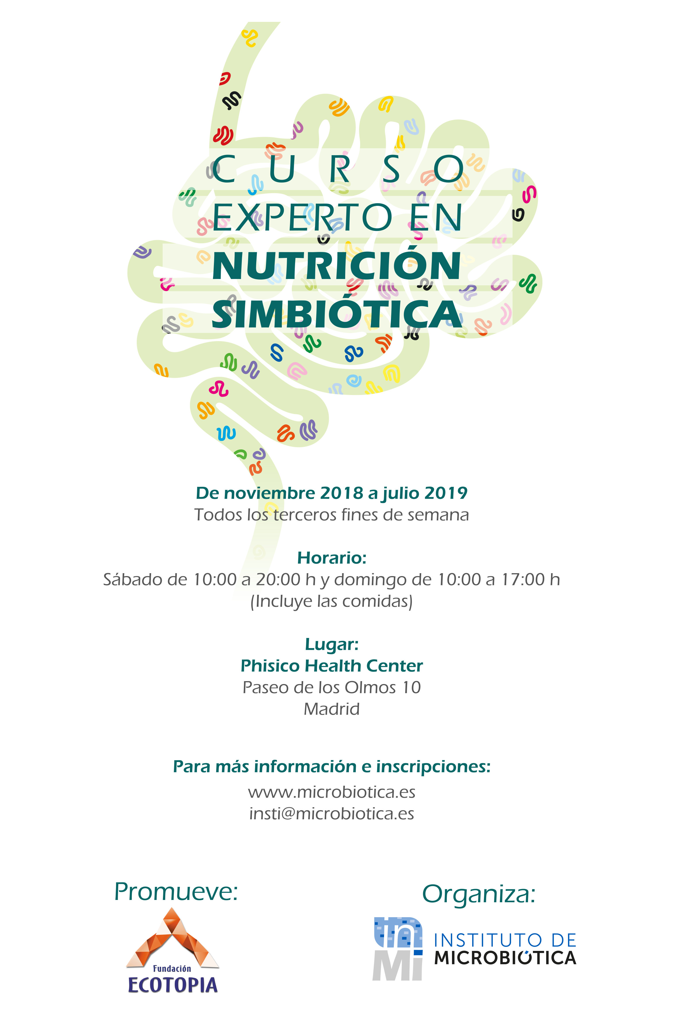 CURSO EXPERTO EN NUTRICIÓN SIMBIÓTICA @ Phisico Health Center | Madrid | Comunidad de Madrid | España