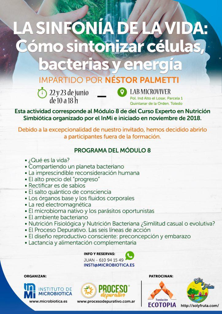 Taller Nestor Palmetti: La Sinfonía de la vida: Cómo sintonizar células, bacterias y energia. @ Lab Microviver | Castilla-La Mancha | España