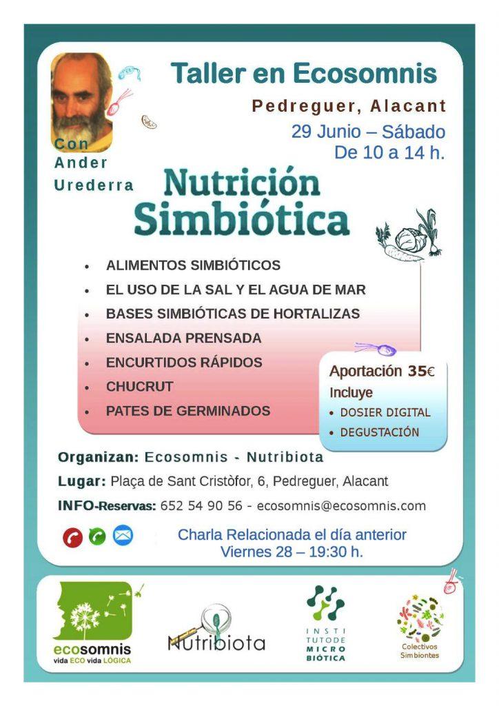TALLER NUTRICIÓN SIMBIÓTICA PEDREGUER ALICANTE @ ECOSOMNIS | Pedreguer | Comunidad Valenciana | España